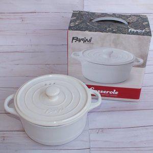 New Parini 1.5 QT Flameproof Casserole Dish White